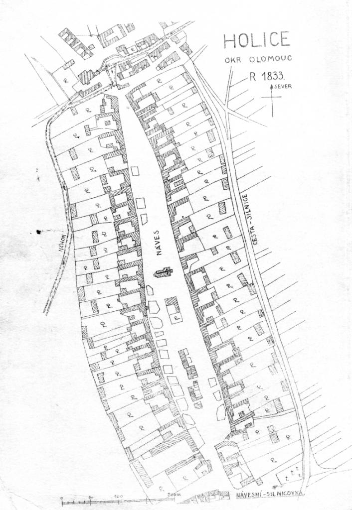 mapa Holice1833