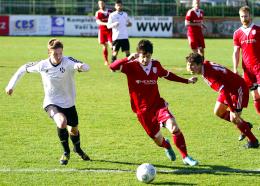 Momentka z utkání 1.HFK Olomouc - SK Uničov